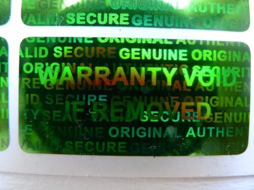 100 GREEN Security Seal Hologram Tamper Evident Warranty Labels Sticker NSGN30
