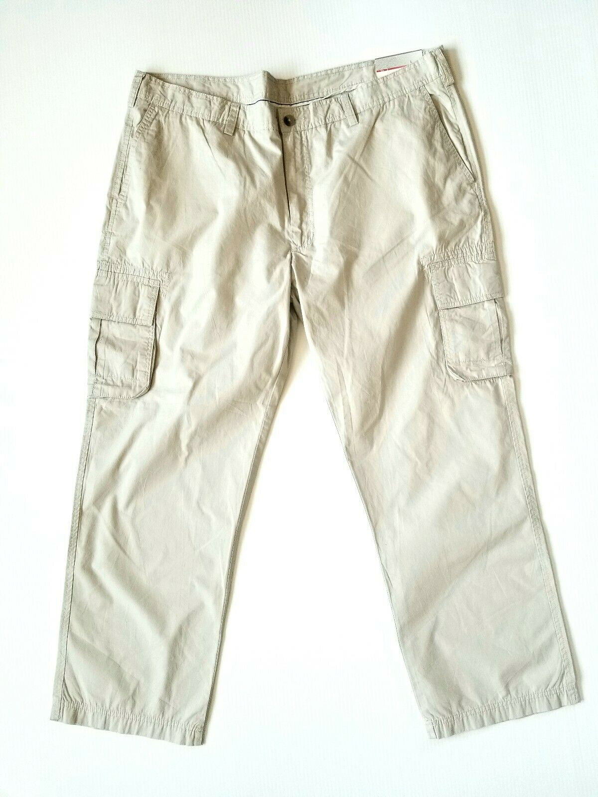 Axist The Slim Cargo Khaki Pants Mens 42 × 30 Dark Chalk