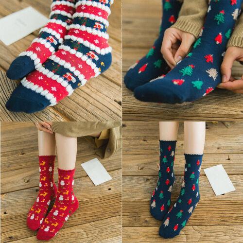 1 Pair Cotton Socks Women Christmas Autumn Winter Breathable Warm Casual Socks