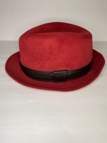 Red Fedora Hat Vintage 1970s Betmar Wool Felt Grosgrain Bow