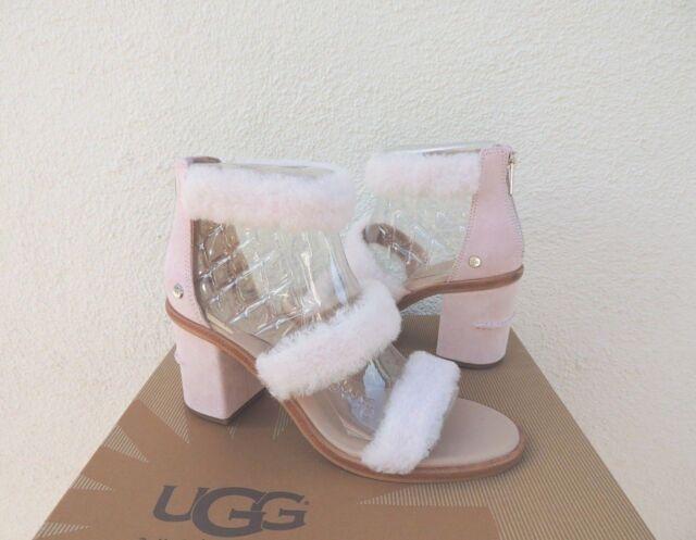 UGG Del Rey Fluff Heel Seashell Pink