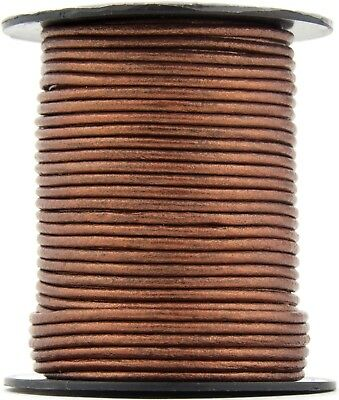 LolliBeads 1.5 mm Genuine Round Leather Cord Braiding String Black 10 Meters TM 10 Yards