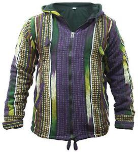 Mens-Heavy-Cotton-Fleece-Lined-Jacket-Hippy-WInter-Festival-Hoodie