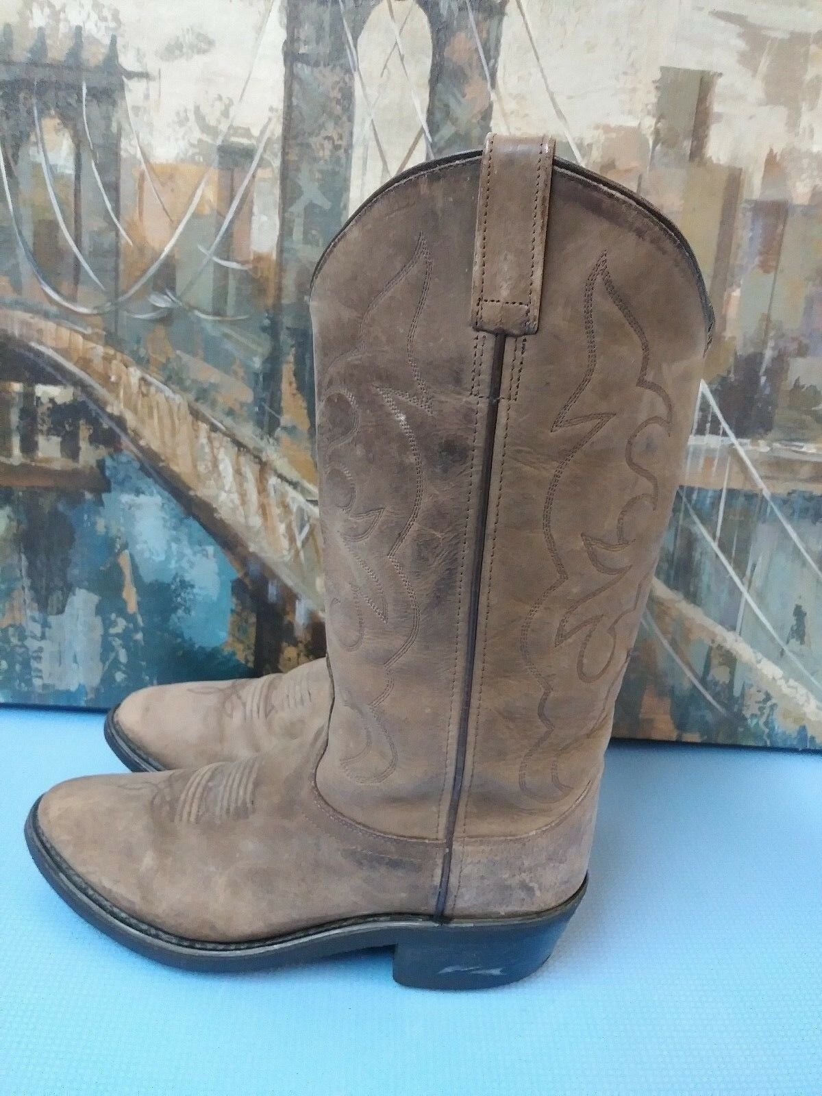 Old West para Hombre Marrón Botas De Vaquero D TBM3051 D Vaquero 358614