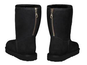 AUSTRALIAN-ORIGINAL-CLASSIC-SHORT-ZIPPER-SHEEPSKIN-BOOTS-Made-in-Australia