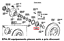 BRIDE-DE-MOYEU-DE-ROUE-AVANT-TOYOTA-HILUX-LAND-CRUISER-40-60-70-4342160013 miniature 3