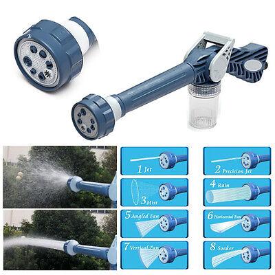 Multi Function 8in1 Jet Garden Car Water & Soap Dispenser Cannon Nozzle Spray