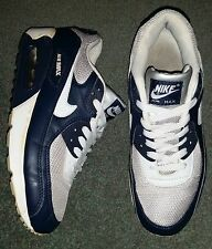 LADS NIKE AIR MAX 90 TRAINERS (UK8) WHITE, BLUE, SILVER