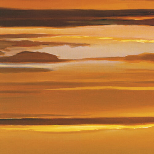 27x27 SUNSET ON THE WATER by DAN WERNER 2PC CANVAS /& SUNSET ON THE SEA 27x27