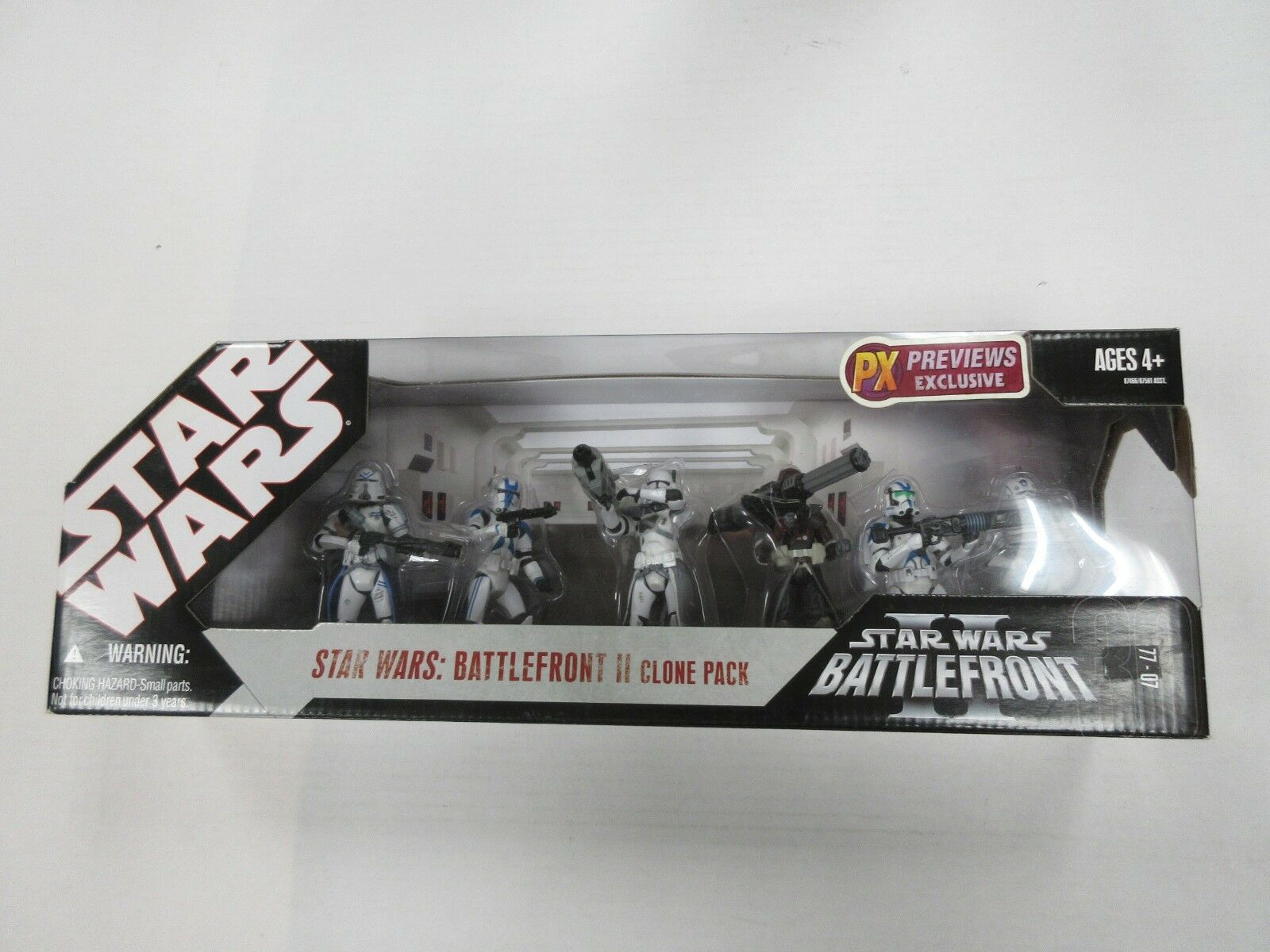 HASBRO STAR WARS PREVIEWS EXCLUSIVE BATTLEFRONT 2 CLONE 6 FIGURE SET NIP SEALED