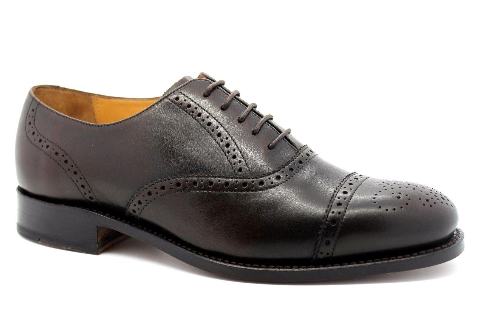 Barker Gatwick para hombre de cuero marrón Reino Unido 7G Savile Row Artesanal Inteligente Zapatos Derby