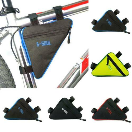 Waterproof MTB Road Bike Cycling Triangle Front Tube Frame Bag Cell Phone Pouch