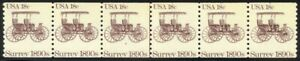 1907-Miscut-New-Design-Plate-2-VF-NH-Strip-of-6