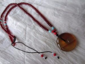 Beautiful-handmade-unique-natural-round-red-chalcedony-agate-necklace