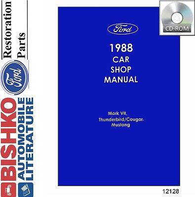 1988 Mustang Thunderbird Mark VII Cougar Shop Service Repair Manual