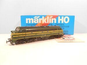 MARKLIN-3066-Piste-h0-1-87-Locomotive-204-008-verte-jaune-SNCB-Ep-III-NEUF-dans-sa-boite