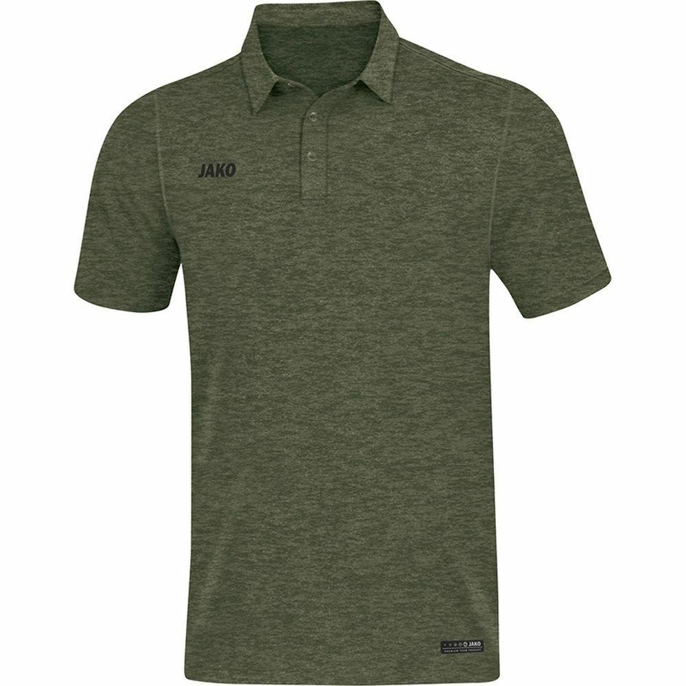 Jako Sports Training Football Casual Mens Short Sleeve SS Polo Shirt Top Khaki