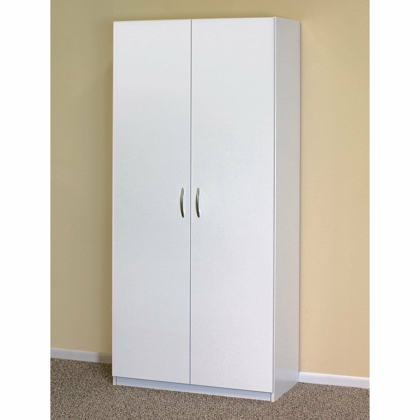 White wardrobe cabinet clothing closet storage modern for White bedroom cabinet