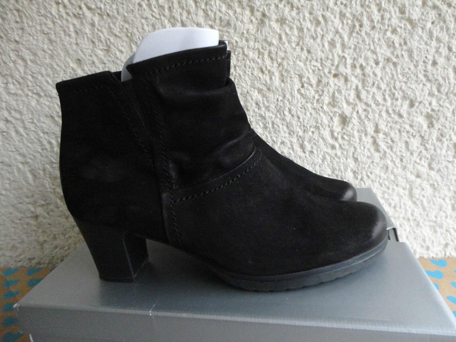 Gabor Stiefeletten Halbstiefel Gr. 6 1/2 oder 40 in G Leder Farbe Schwarz Weite G in 10241d