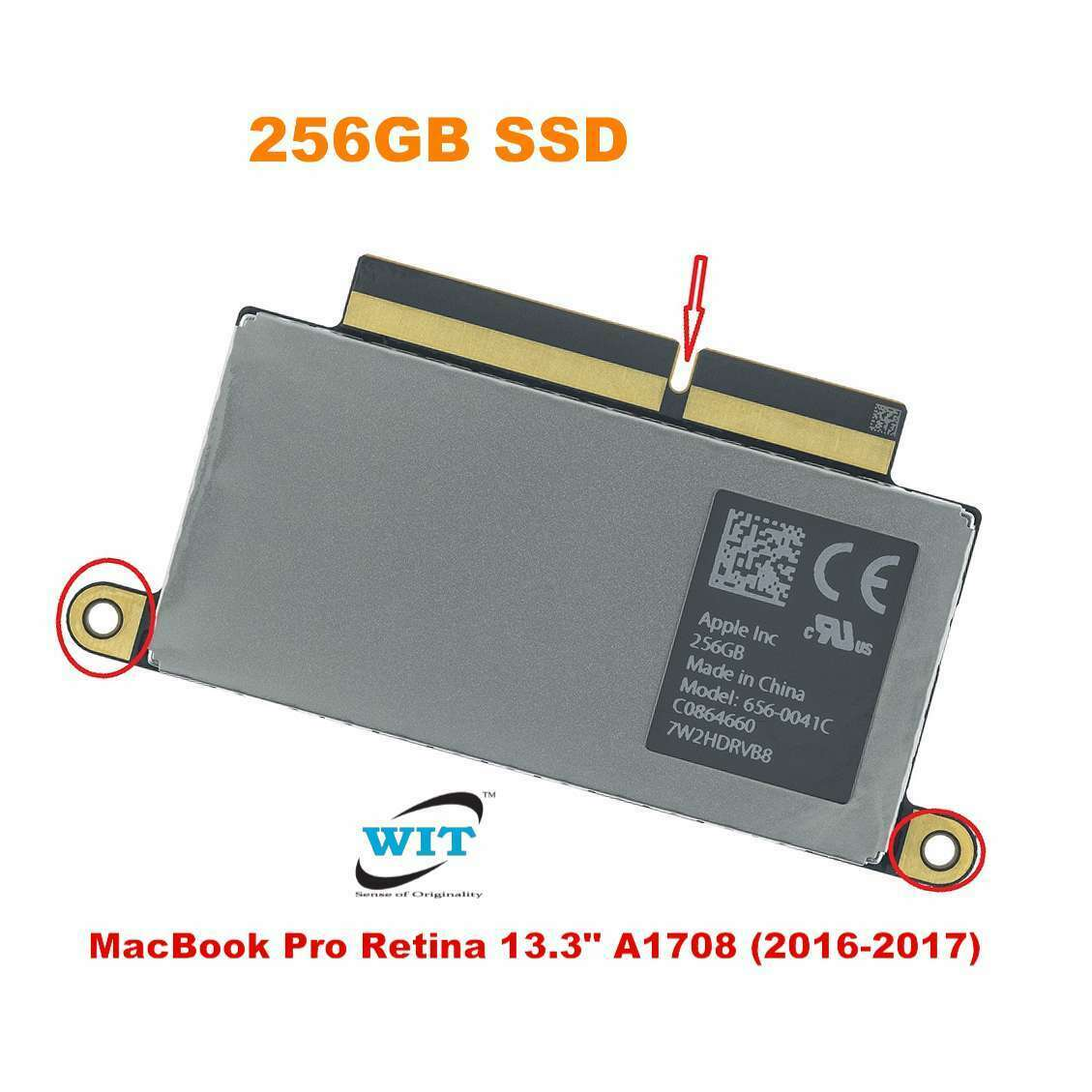 256GB Solid State Drive SSD 656-0076B for 2017 MacBook Pro A1708. Buy it now for 60.00