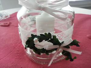 Details About Dekotischdeko Hochzeit Kommunion Konfirmation Taufe 4 Gläservasen Vintage