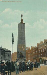 DUBLIN-Parnell-Monument-Ireland-1917