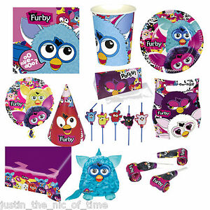 Furby Boom Toy Furbies Party Supplies Tableware Childrens Themed