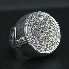 Islamic Mens Ring 925 Sterling Silver 99 Names of Allah Asma ul-Husna
