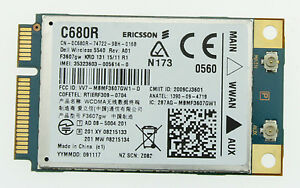 Details about WWAN 5540 3G HSPA CARD C680R F3607GW DELL INSPIRON LATITUDE  PRECISION STUDIO G65