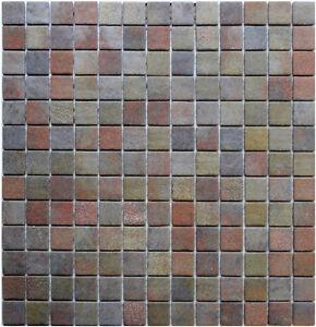 Glasmosaik 4mm Gc Natur Slate Multicolor Rutschfest Bad Fliesen