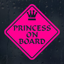 Princess On Board Car Decal Vinyl Sticker For Bumper Or Panel Window