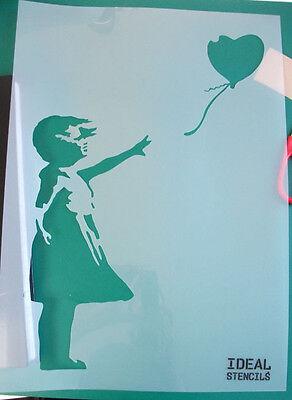 Banksy Balloon Girl Stencil Reusable Ideal Stencils For Home Decor Art Craft etc