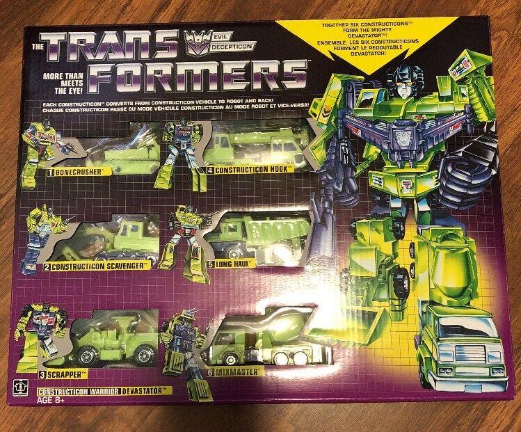 Transformers G1 constructicones Gift Set Devastator 6 Figuras Pack 2018 reedición