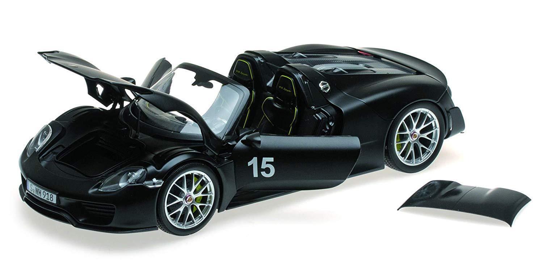 Minichamps 2013 Porsche 918 Spyder Weissach, paquete artículo Matt nero  18New