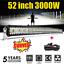 52-039-039-3000W-courbe-Barre-LED-Rampe-Light-bar-phare-de-travail-SUV-ATV-4x4-Offroad miniature 1