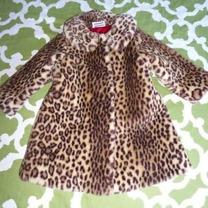 8102301dd6ab American Girl Bitty Baby S Leopard Cherry Chocolate Faux Fur Coat | eBay