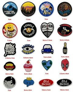 Travel Adventure fun Live collection badges Iron on Sew on Embroidered Patch