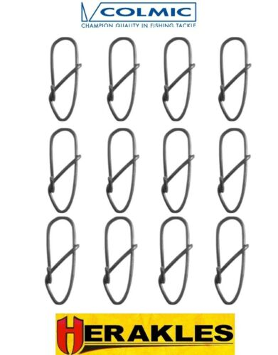 Colmic Snaps 12Pcs for Sea Coarse Fishing Carp Lure Fast Connector All Size Chub