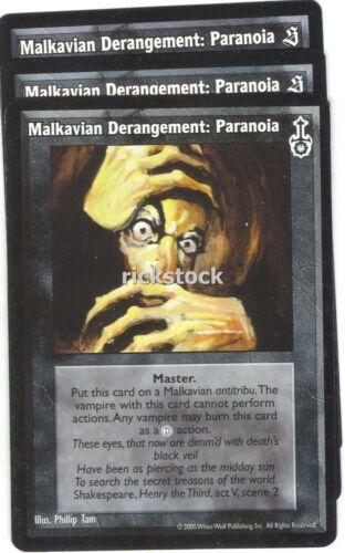 Paranoia x3 SE SW VTES Jyhad Malkavian Derangement