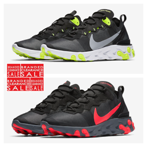 BNIB New Men Nike React Element 55 Black Volt Red Size 7 8 9 10uk 87 ... 7d7f450a3