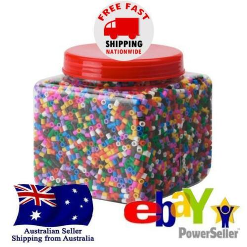 10000 Hama Perler Beads Iron-on Craft 5mm Mixed Colour Art Jewellery Decoration