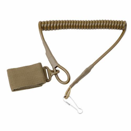 Flexable Chain Secure Spring Supplies Pistol Lanyard Sling Elastic Hands Belt OS