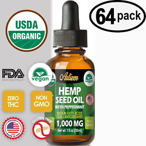 Mint-Hemp-Oil-Drops-for-Pain-Relief-Stress-Sleep-PURE-amp-ORGANIC-64-PACK
