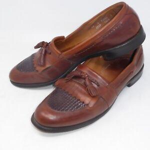 6d29d9b0972 Allen Edmonds Cody 13 A Chili Brown Leather Tassel Weave Slip On ...