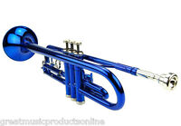 Beginner Student School Band Blue Trumpet Outfit With Case
