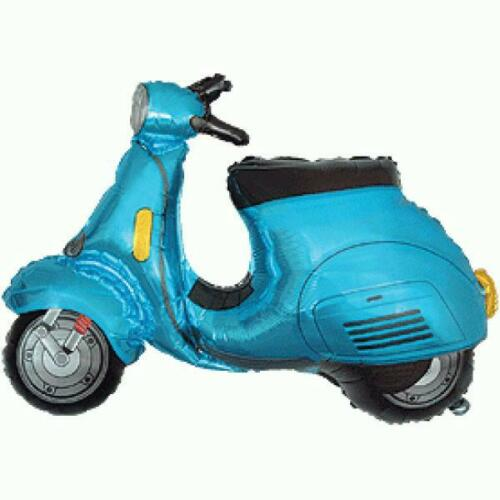 Blue Scooter Shaped 26 Inch Foil Balloon