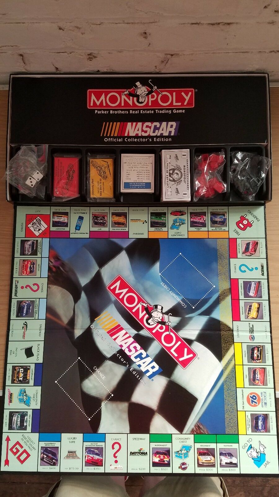 Vintage 1997 Monolpoly Nascar Official  Collector's Edition Board Game New