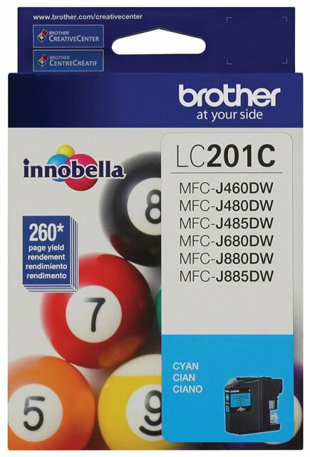 GENUINE Brother LC201 Cyan Ink Cartridge For MFC-J480DW