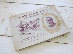 Vintage-The-Reign-of-King-George-V-Booklet-Issued-by-WD-HO-Wills-Royalty-Booklet