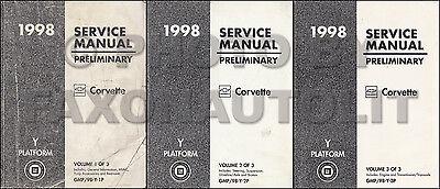 1998 Cadillac Seville Shop Manual Set of 3 Preliminary Repair Service Books 98